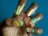 Superman Ice Cream Water Marbling Nails