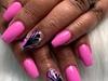 Abstract hand-painted nail art