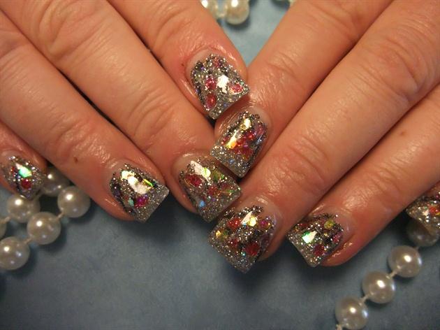 bling christmas nails