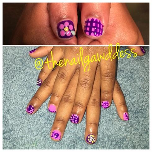 Kids Polished Nails