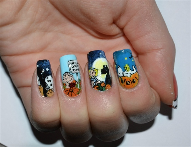 It's the Great Pumpkin Charlie Brown - Nail Art Gallery