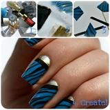 "Zebra Print ""Nail Stickers"""