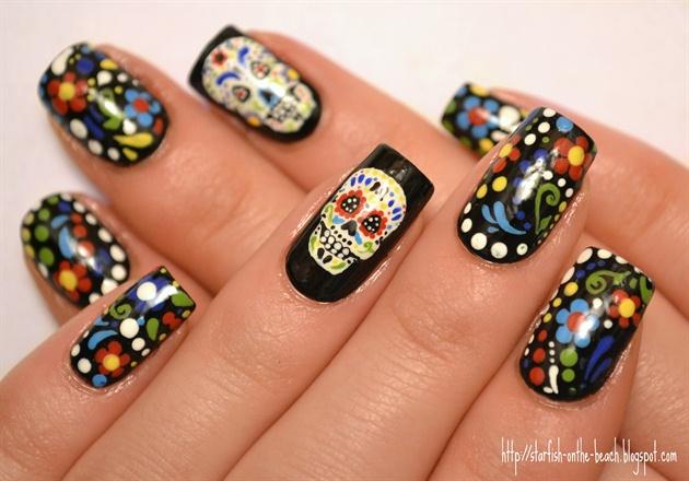 Da de los muertos nail art gallery d236a de los muertos prinsesfo Images