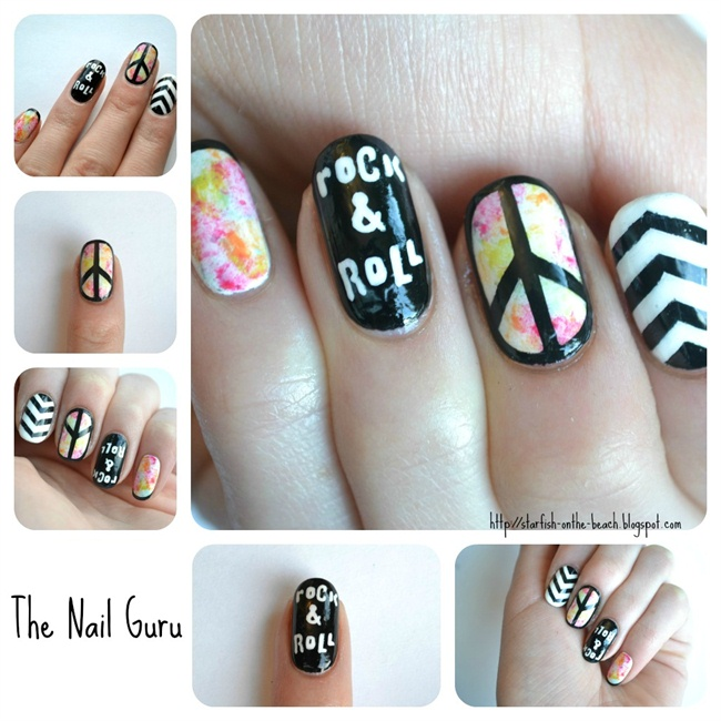 Nail Art Gallery peace sign Nail Art Photos