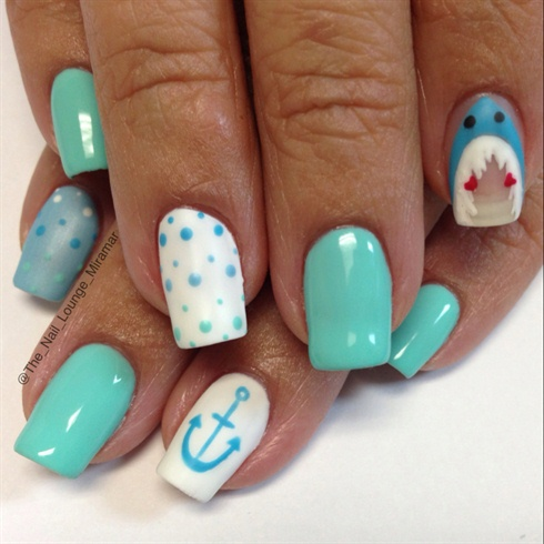 Shark Week by TheNailLounge from Nail Art Gallery
