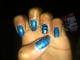 Electric Blue Zebra