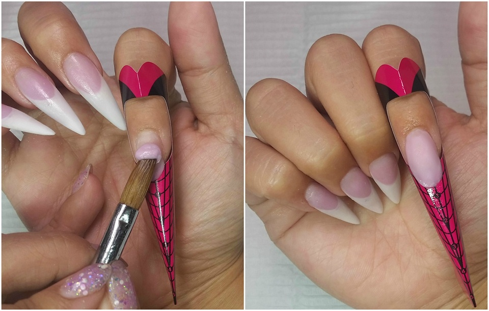NTNA Challenge #3- ENTITY Pink & White - Nail Art Gallery Step-by ...