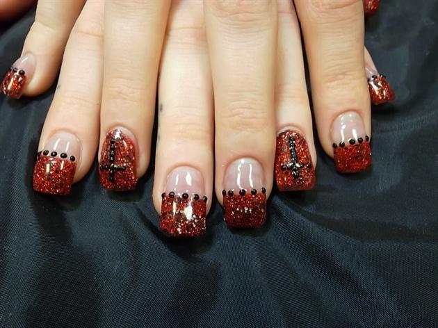 acrylic glitter vampire