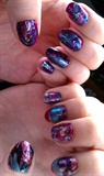 Rich purple and blue water marble