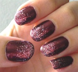 Red Glitter Ombre