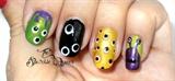 Cute Monsters Nail Art