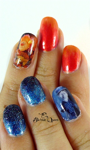 The Year Without A Santa Claus Nail Art