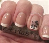 Dragon Fly French Manicure