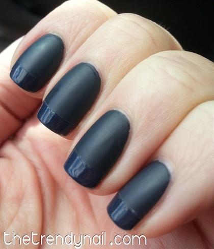 Matte & Shiny Dark Nails