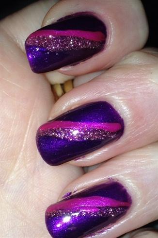 Purple glitter elegance
