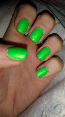 neon green  nail art gallery