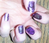 Water Marbled Purple and Black