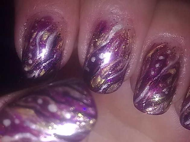 Gelish Purple and Gold