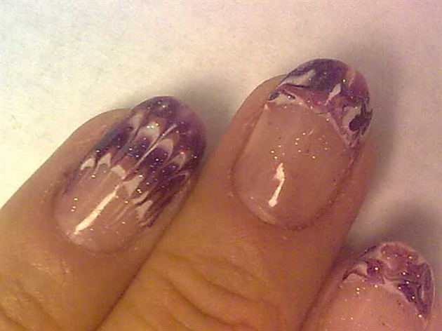 Gelish Marble and Feather