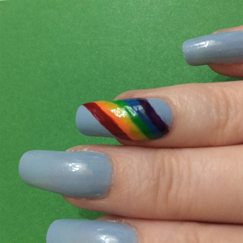 hand-painted rainbow