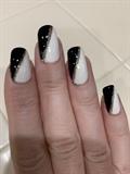black and white, color blocking, stripin