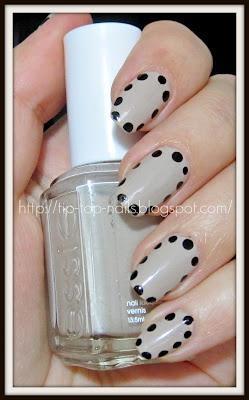 nude polka dots nails