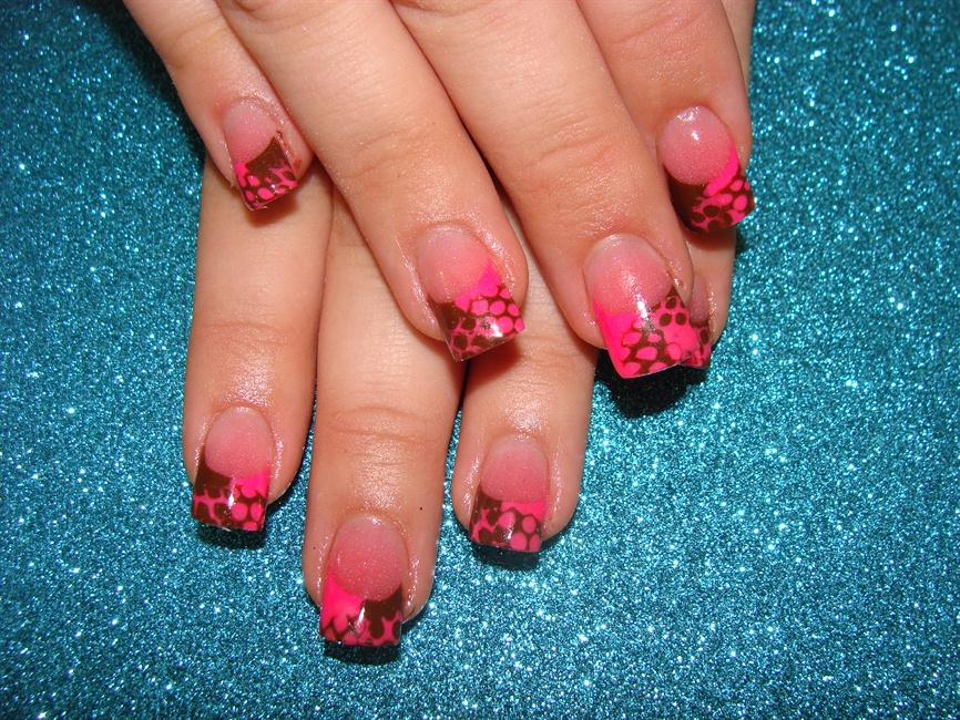 Nail Art Pink And Brown ~ the best inspiration for design and color ...