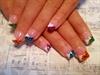 Multi colored zebra nails