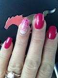 Bright Pink Winter Nails