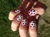 Pink Leopard Print Nail Art