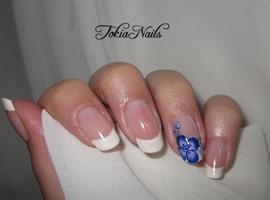 nail art: Blue flower