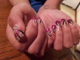 Nail art and Acrylic design on thumb