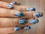 Acrylic Tips with Nail Art