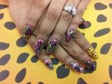 Acrylic nail design with Nail art