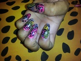 Acrylic nail Design with nail Art