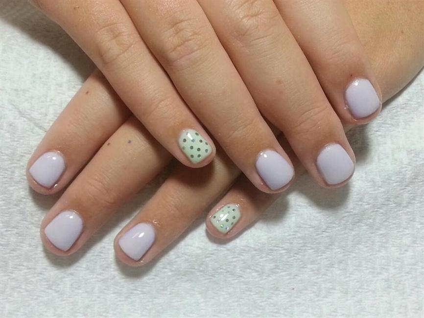Gel on short nails - Nail Art Gallery