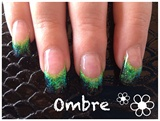 Green/black ombré