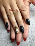 Louboutin matte Black & Gold