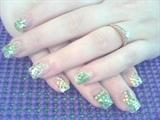 green sea shells by the seashore