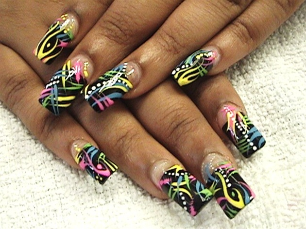 African nail designs graham reid african american nail art choice image nail art and nail design black neon nail art gallery prinsesfo Gallery