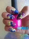 Acrylic nails decorated