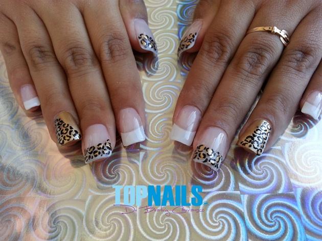 Acrylic nails french animal print nail art gallery acrylic nails french animal print prinsesfo Gallery