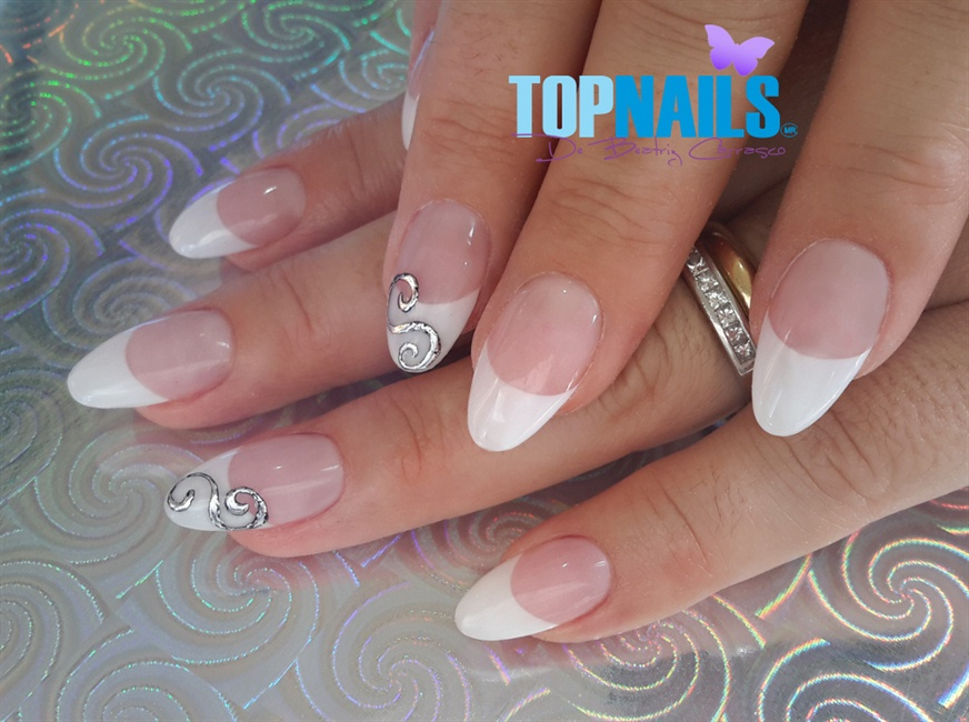 Acrylic Nails French Pointy With Foil De Nail Art Gallery