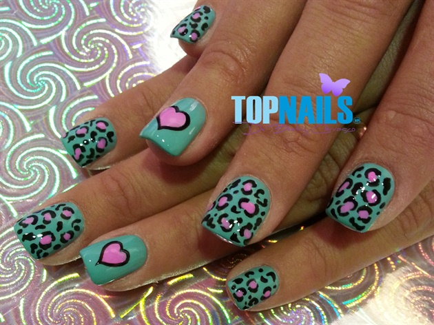 Acrylic Nails with Animal Print designs