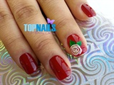 Acrylic Nails enamel with Floral designs