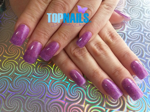 Acrylic Nails French with glitter nails