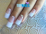 Acrylic Nails French and Swarovski Cryst