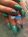Acrylic Nails with permanent enamel