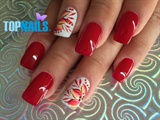 Acrylic Nails designs flowery