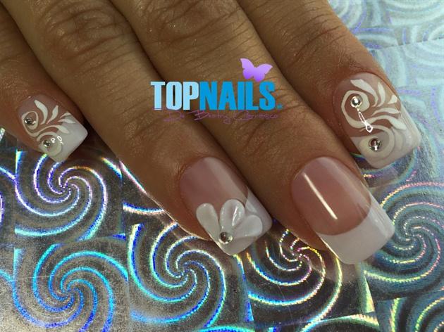 Acrylic nails Bride with 3D Swarovski